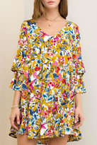 Entro Yellow Floral Dress