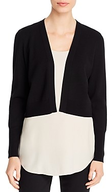 Elie Tahari Lacey Cropped Open-Front Cardigan