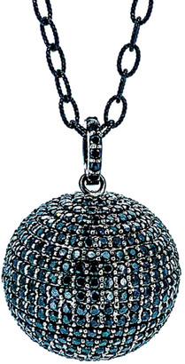 Arthur Marder Fine Jewelry Silver Black Spinel Necklace