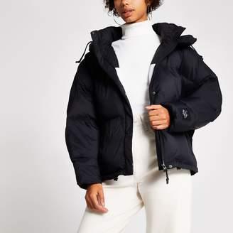 River Island Womens Dua Lipa x Pepe Jeans Black crop puffer coat