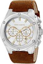 Vince Camuto VC/1064SVBN - Men's Watch, Leather, Brown Tone