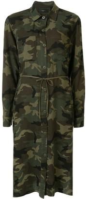 Amiri Camouflage Print Shirt Dress