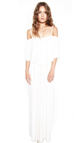 Michael Lauren Matador 2 Tier Maxi Dress in Milk
