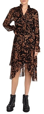 The Kooples Arabesque Flowers Midi Dress