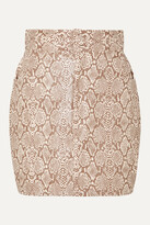 Thumbnail for your product : Michael Lo Sordo Snake-effect Faux Leather Mini Skirt - Animal print