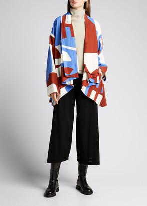 Issey Miyake Abstract Draped Cardigan Jacket