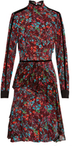 Preen Line Bailey checked floral-print dress