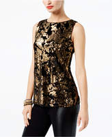 INC International Concepts Velvet-Contrast Sequin Shell, Created for Macy's