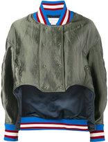 Esteban Cortazar asymmetric bomber jacket