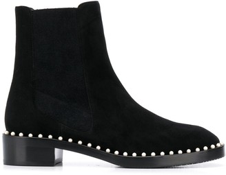 Stuart Weitzman Faux-Pearl Embellished Boots