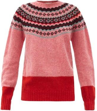 Molly Goddard Benny Fair-isle Wool Sweater - Pink