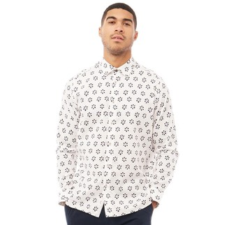 Ted Baker Mens Caledon Long Sleeve Geo Floral Printed Shirt White