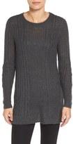Caslon Openwork Cable Tunic Sweater (Regular & Petite)