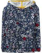 Joules Little Joule Girls' Overhead Hooded Sweatshirt, Navy