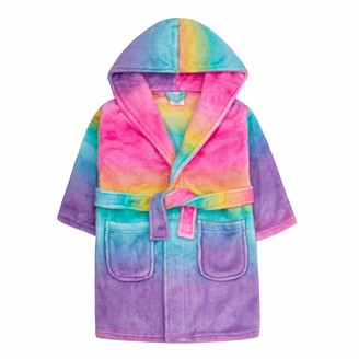 Lora Dora Girls Hooded Dressing Gown Sherbet Ombre 3-4 Years