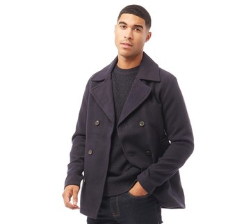 Jack and Jones Mens Peacoat Jacket Navy Blazer