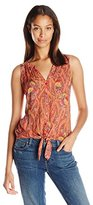 Lucky Brand Women's Feather Paisley Top