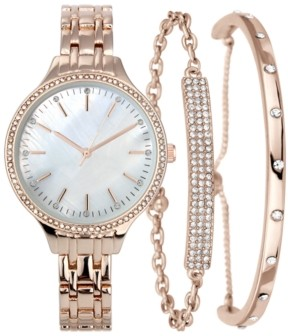 INC International Concepts Inc Women's Gold-Tone or Rose Gold-Tone Bracelet Watch Set 36mm, Created for Macy's