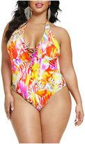 Fashion to Figure Marcela Lace Up Swimsuit-Plus