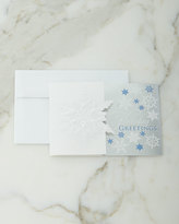 Carlson Craft Subtle Snowflakes Cards, Personalized