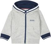 BOSS Logo print zip-through cotton hoody 6-36 months