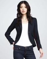 Tuxedo-Stripe Blazer