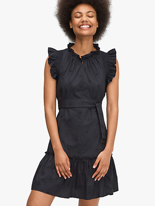 Kate Spade Embroidered Poplin Mini Dress