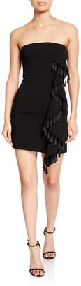 Cinq à Sept Nat Strapless Mini Tassel Dress