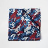 River Island MensBlue camo pocket square