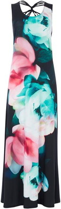 Roman Originals Floral Cross Back Maxi Dress