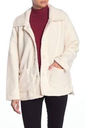 Wild Honey Faux Shearling Dolman Coat