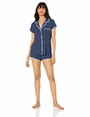 Eberjey Women's Frida Whip Stitch Short PJ Set