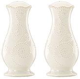 Lenox French Perle Scalloped Stoneware Salt & Pepper Shaker Set