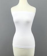 White Strapless Tummy-Control Camisole