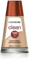 Cover Girl Clean Liquid Makeup Ivory Neutral 105, 30ml