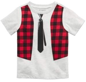 First Impressions Toddler Boys Punk Rock Tie T-Shirt, Created For Macy's