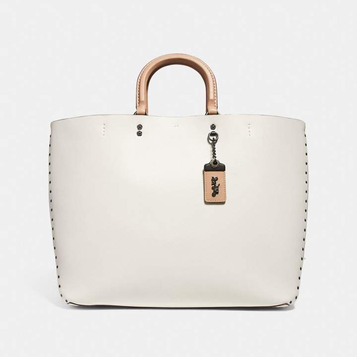 Coach Rogue Tote With Rivets