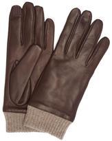 Portolano Nappa Leather Ribbed Cuff Gloves