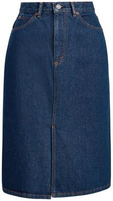 Polo Ralph Lauren A-Line Denim Midi Skirt
