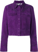 McQ by Alexander McQueen embroidered suede jacket