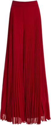 Max Mara Pagode Georgette Maxi Skirt