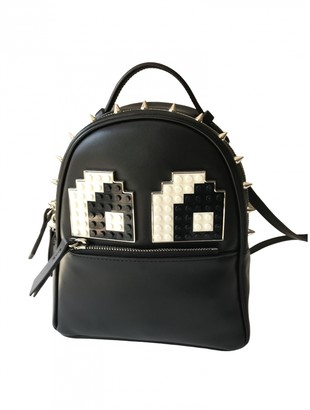 Les Petits Joueurs Black Leather Backpacks