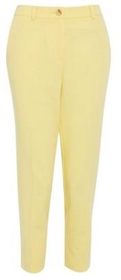 Dorothy Perkins Womens Dp Petite Lemon Elastic Ankle Grazer Trousers