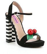 Betsey Johnson Izzie Cherry Platform Sandals