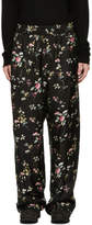Haider Ackermann Black Freesia Pyjama Trousers