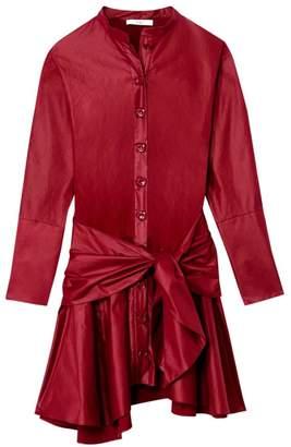 Tibi Glossy Plainweave Shirtdress