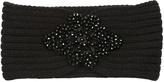 Betsey Johnson Black Floral Rhinestone Head Wrap