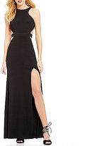 GB Social Cut-Out Halter Neck Gown
