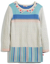 Billieblush Knit Jacquard Striped & Polka-Dot Dress, Size 4-8