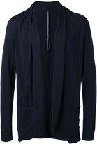Attachment raw edge cardigan - men - Cotton - II